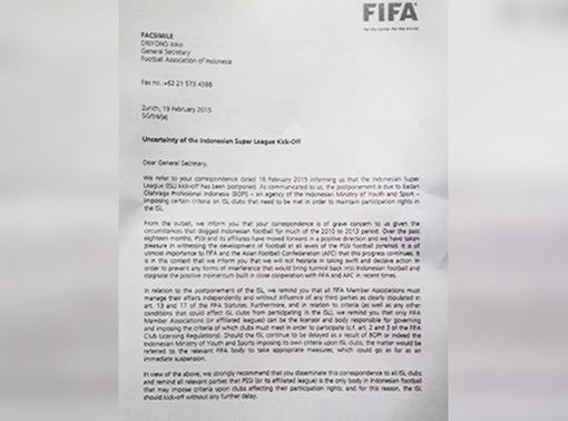 FIFA Ancam Beri Sanksi Sepakbola Indonesia