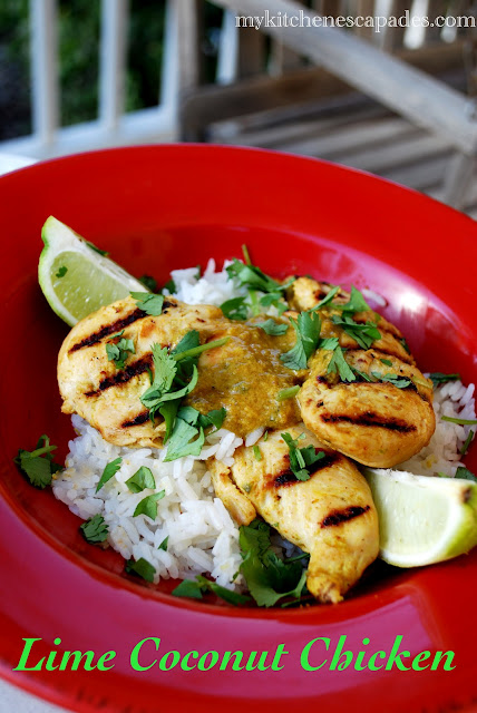 Lime Coconut Chicken with rice