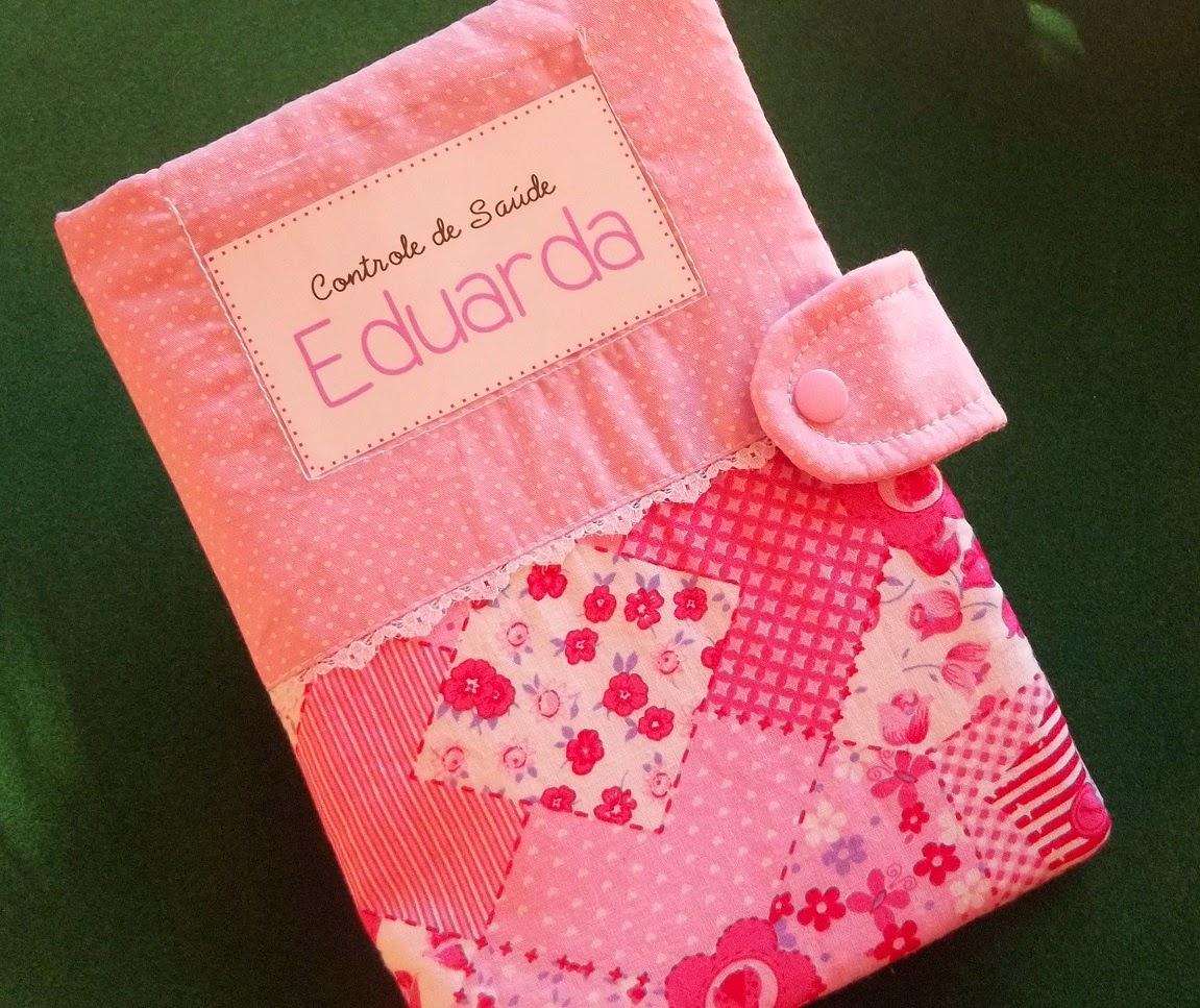 Capa livro de vacinas rosa livrinho capinha