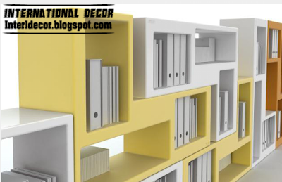 modern bookshelf with different colors Modern Modular Bookshelf Designs for Companies or Offices