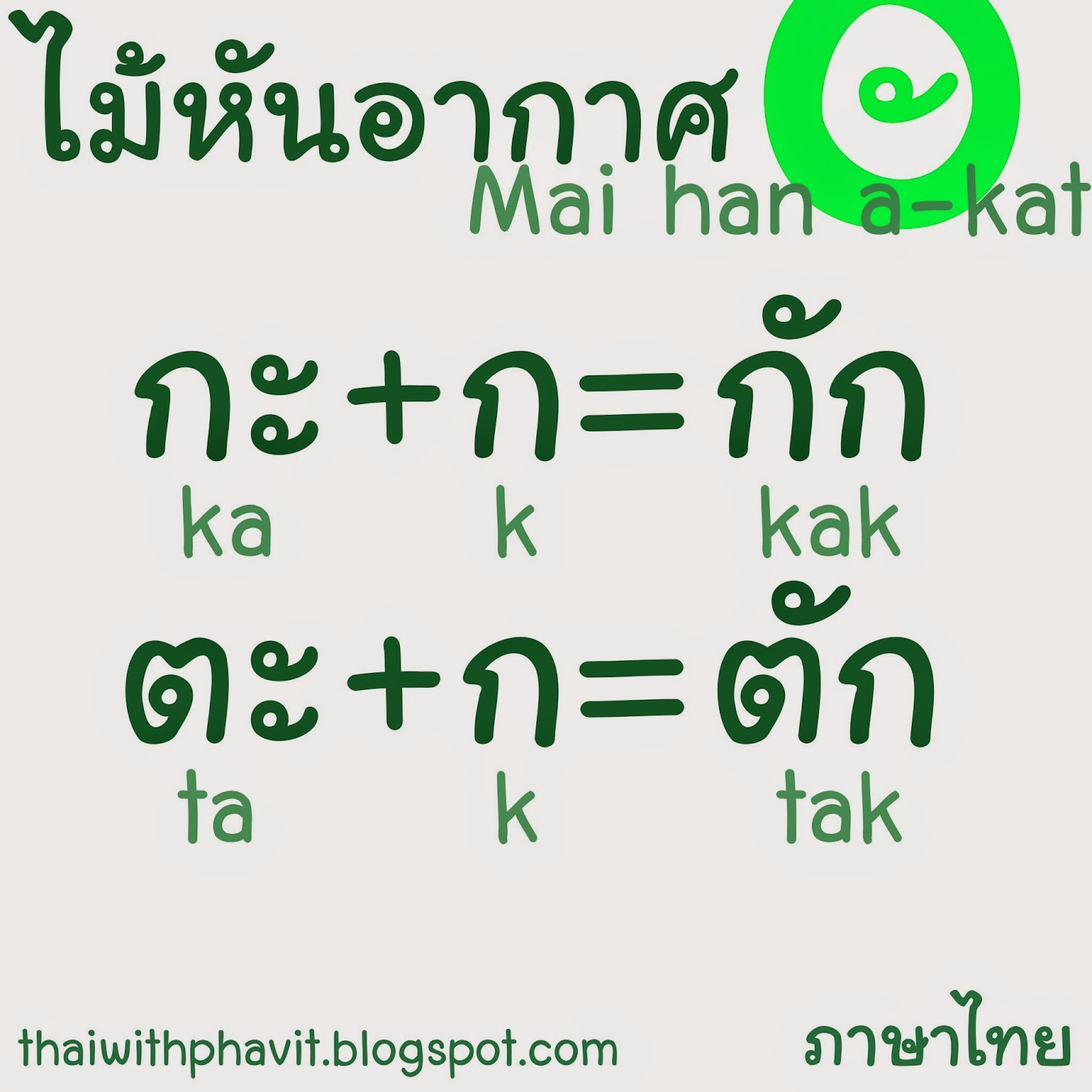 Thai alphabet the secret of mai han a kat m4hsunfo