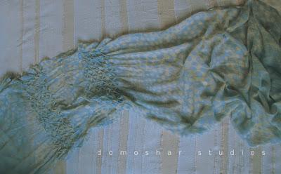копринен шал с дъх на море