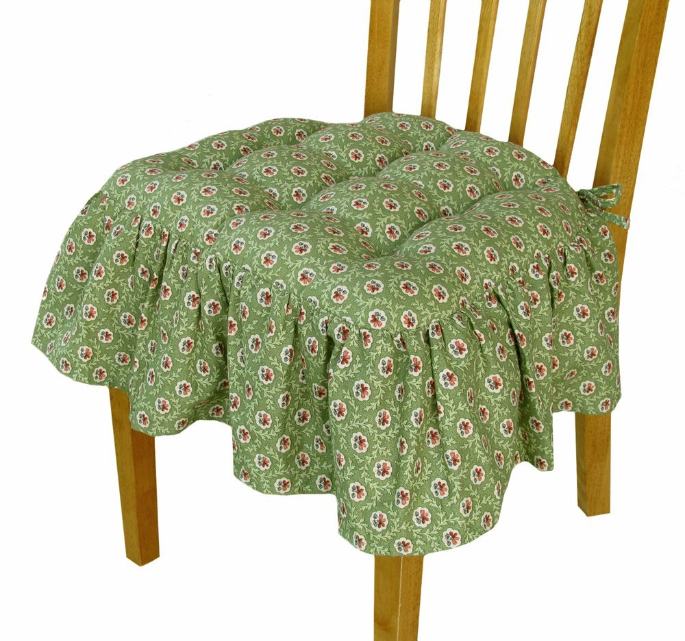 Ruffled Chair Pads Bed Mattress Sale