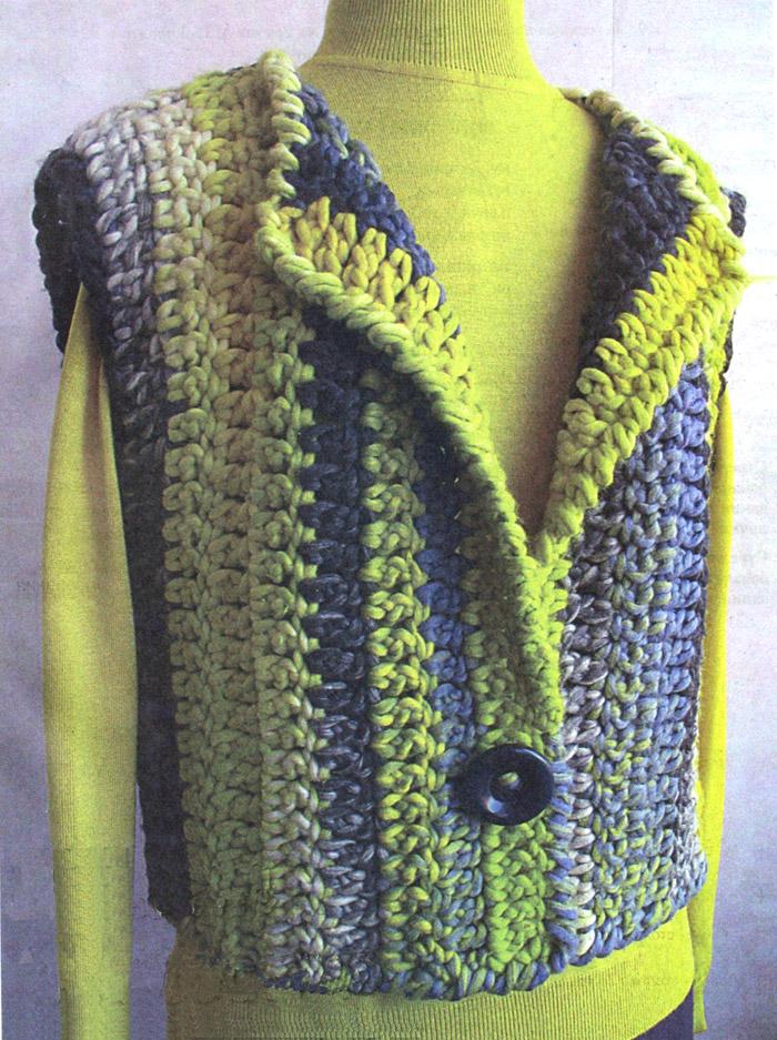 Жилет «Полоски» Vest - Crochet