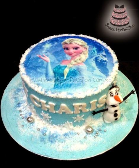 Edible Cake Pictures Frozen : Sweet Perfection Cakes Gallery: Code F02 - Charis Frozen Cake