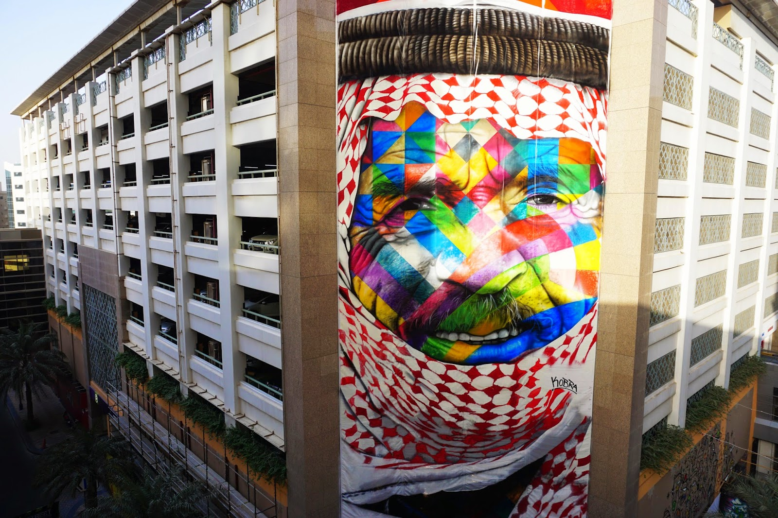 UAE is booming with public art and Edoardo Kobra is the latest artist to bring his artwork to the streets of Dubai.
