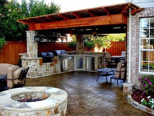 Creative home designs recipes interior home design for Simple outdoor kitchen designs
