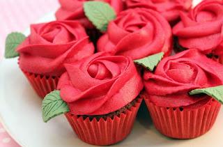 Cupcakes Decorados con Flores