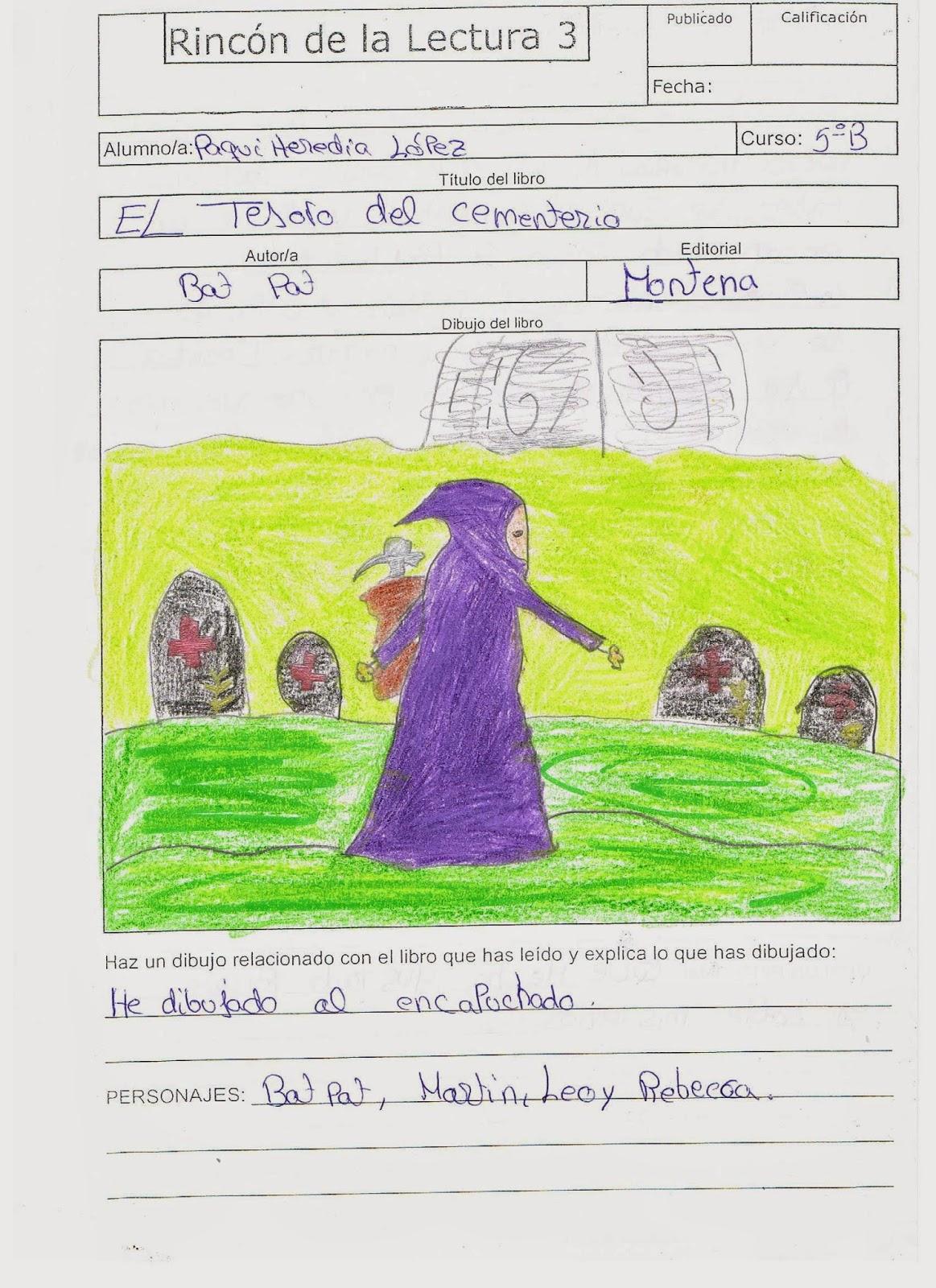 Rinc n de la lectura 3 el tesoro del cementerio for El rincon de la lectura