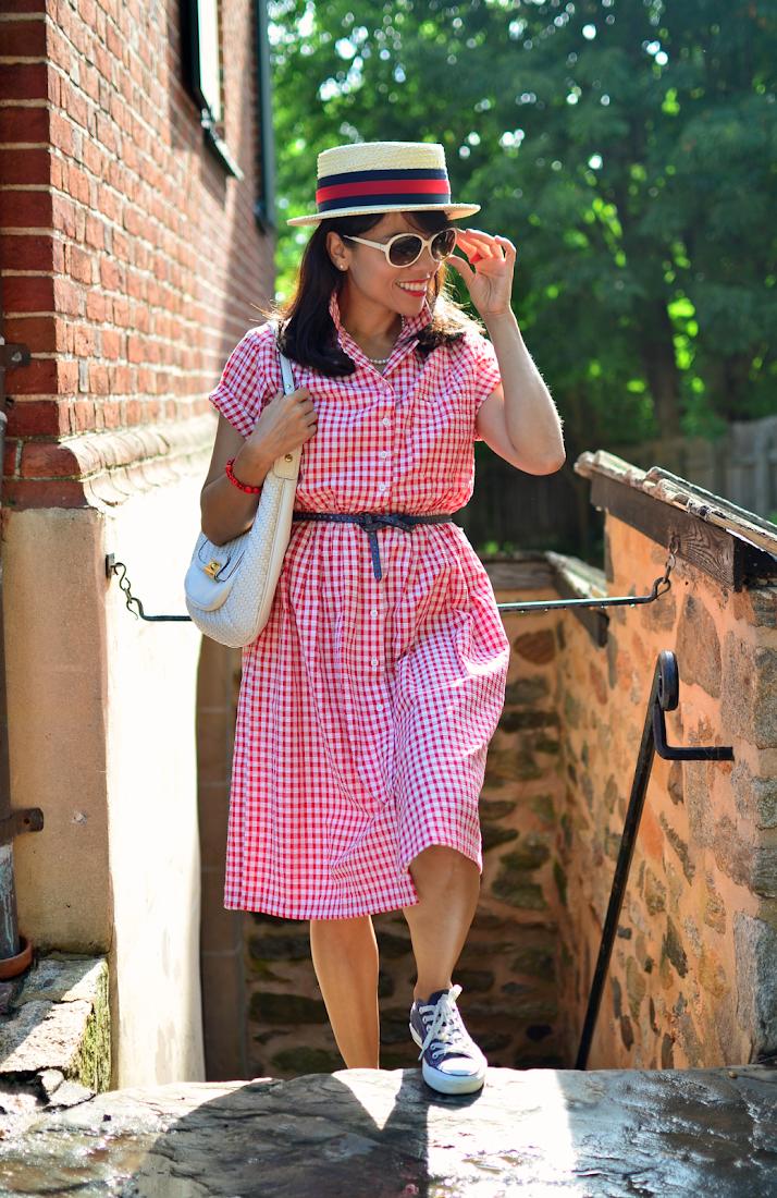 Gingham Dress Street Style