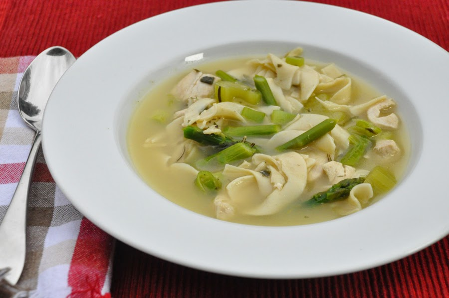 Spring Chicken Noodle Soup