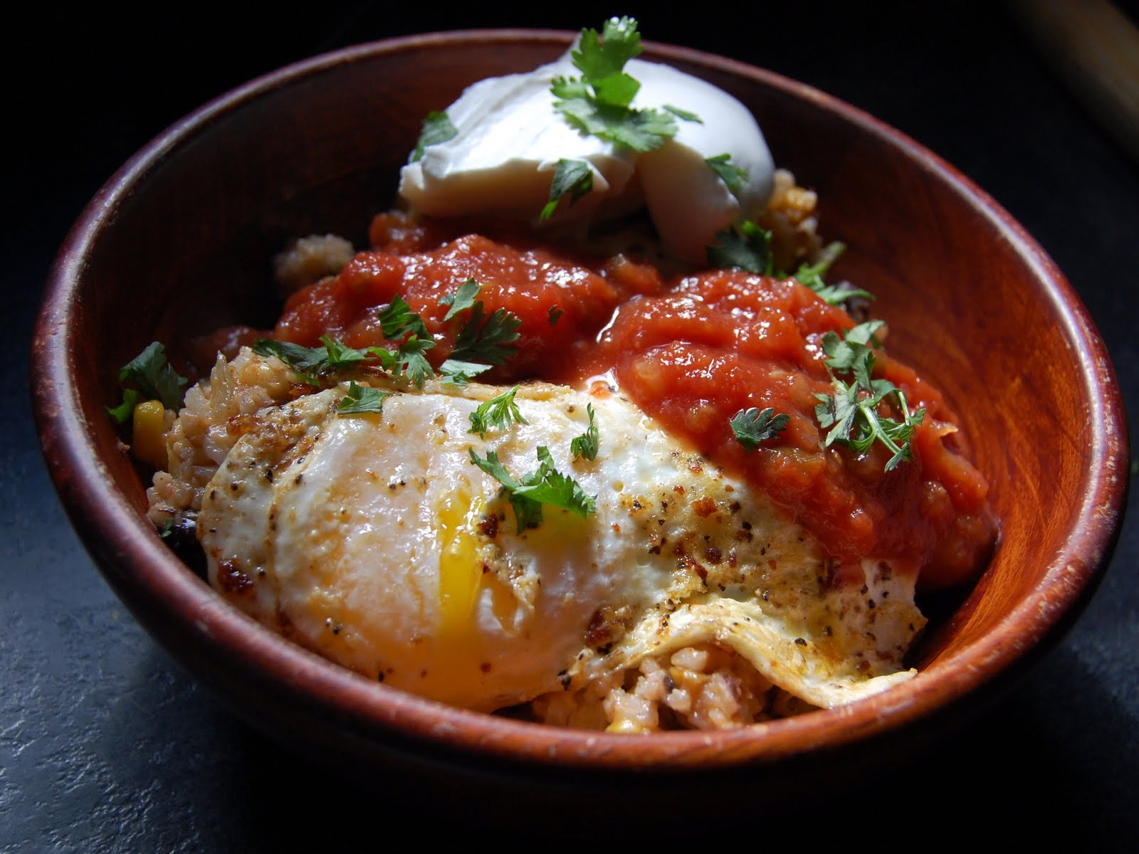 Mexican Rice Bowls With Fried Eggs