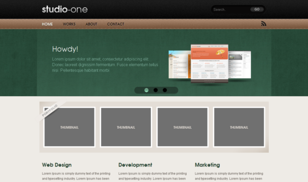 Free Html5 Css3: Html5 Template : Studio One