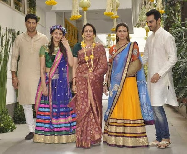Hema with two daughters and son in laws