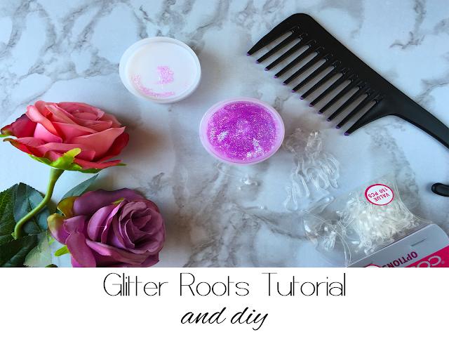 Glitter, roots, tutorial, diy