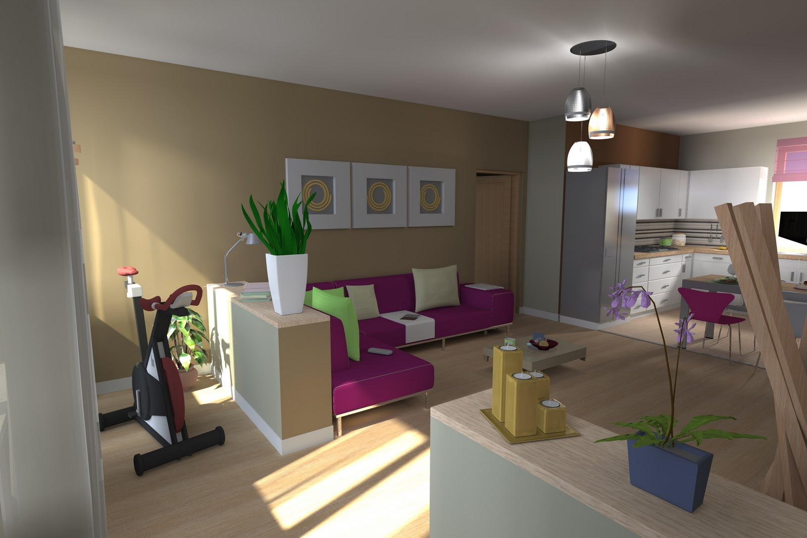 i. d. & a. 3 interior designers & architects: unico ambiente ... - Realizzare Unico Ambiente Cucina Soggiorno 2