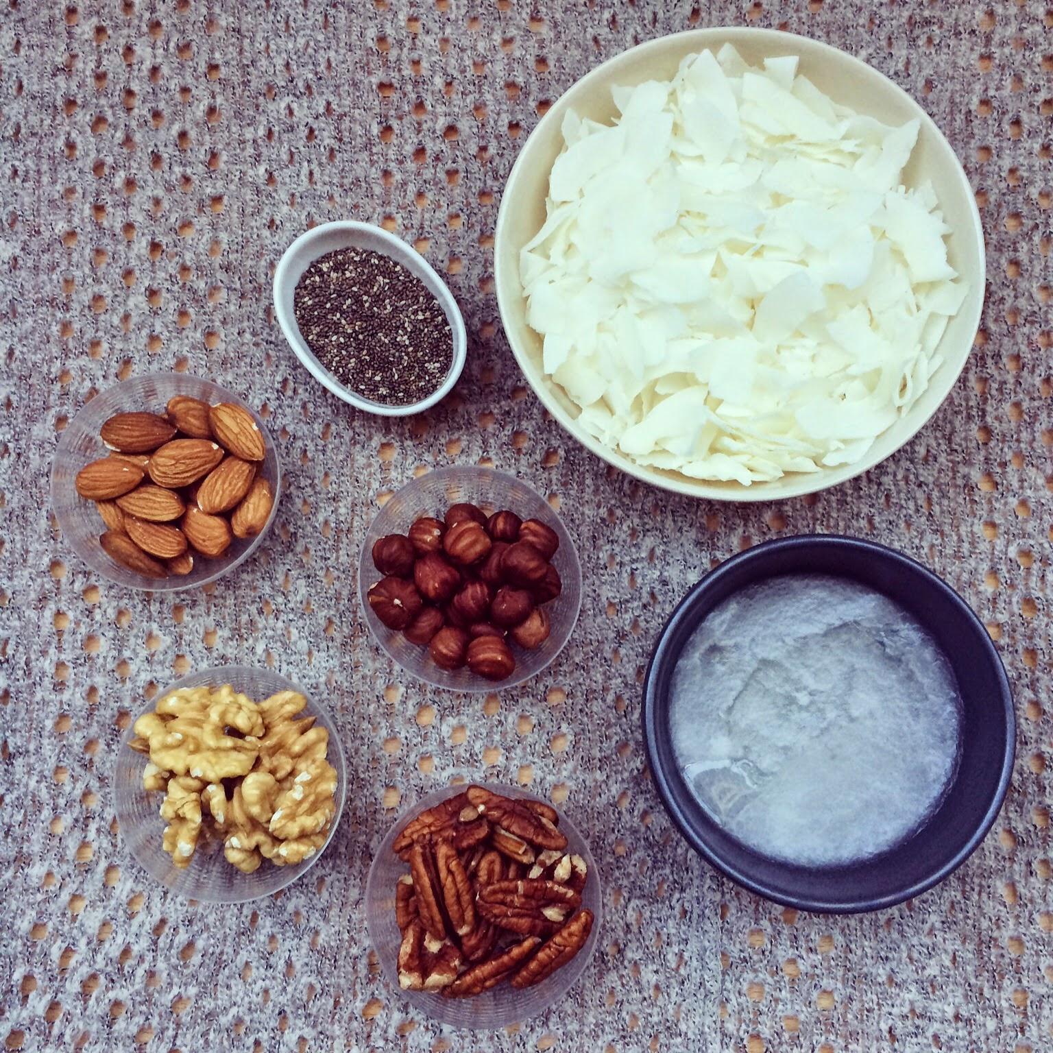granola coco noix