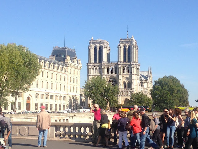 France Paris holiday notre dame cathedral on the bridge