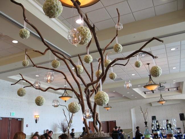 decorated with glass lantern wishing tree