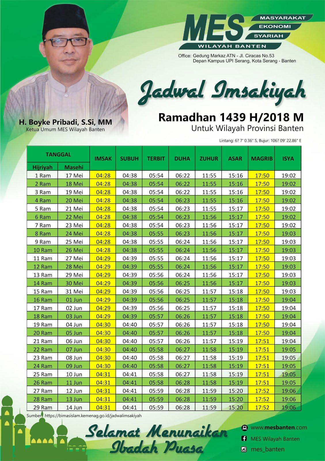 Jadwal Imsyakiah