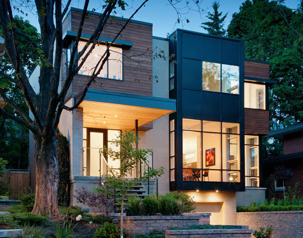Small stucco homes and their landscape home decorating ideas for Modern house design ottawa