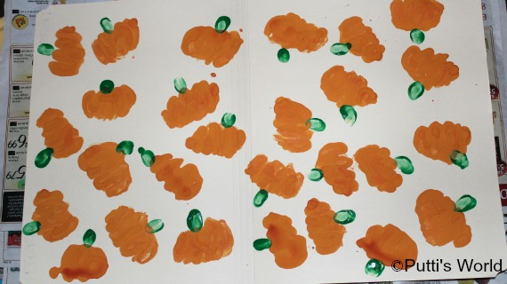 Fist Print Pumpkins