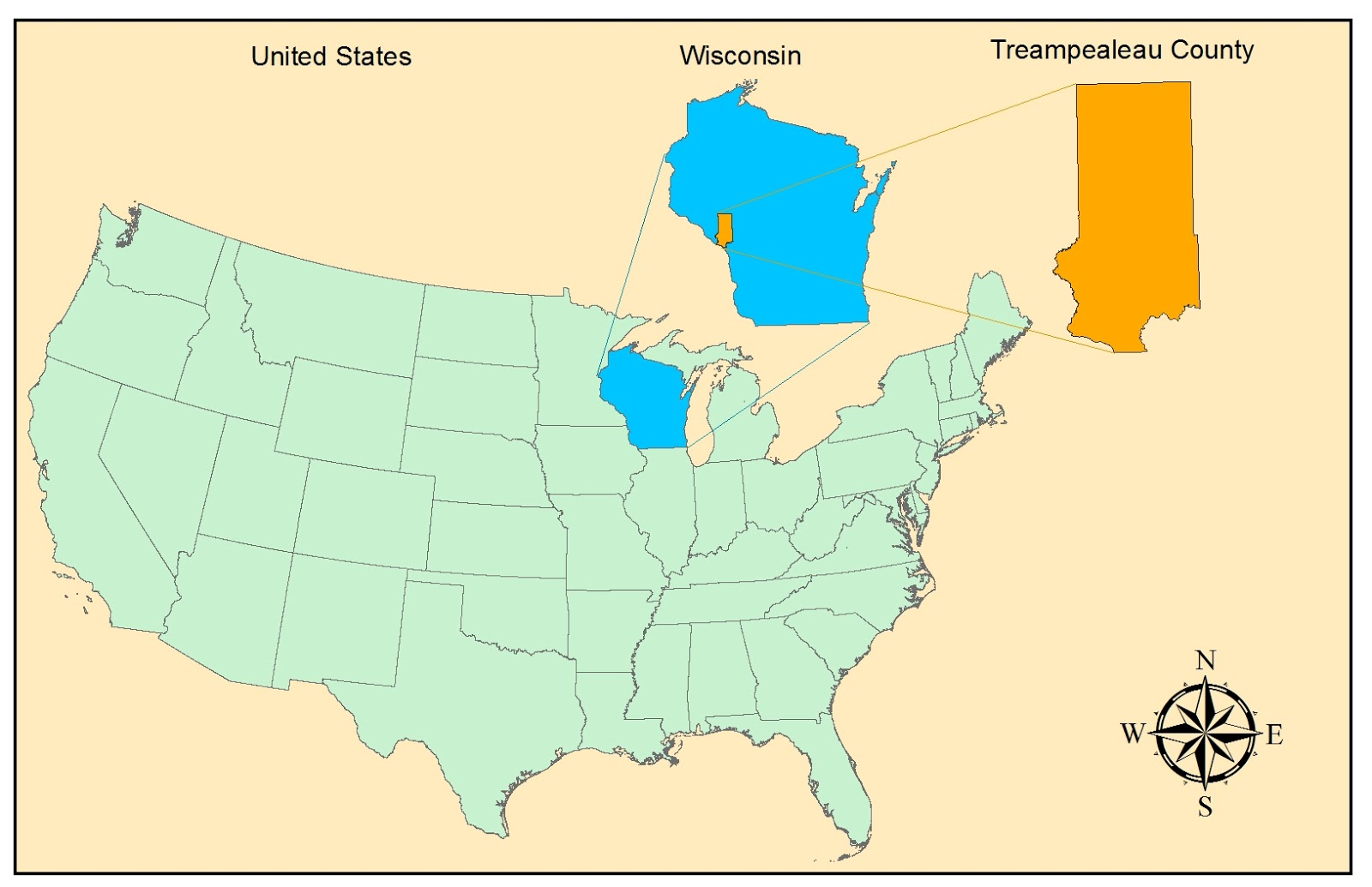 the location of trempealeau county wisconsin usa the west central portion of wisconsin has become populated with sand mining operations in recent years