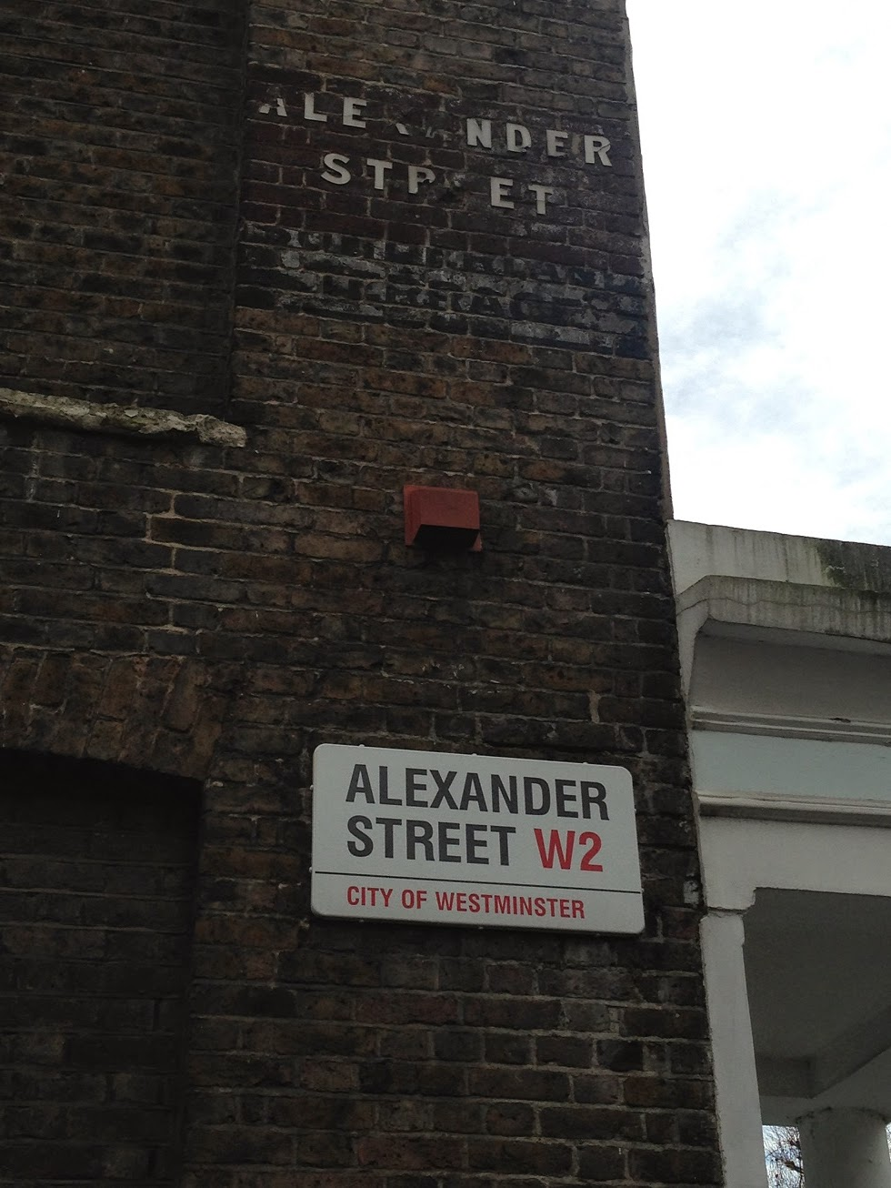 Ghost signs, Alexander Street, London W2