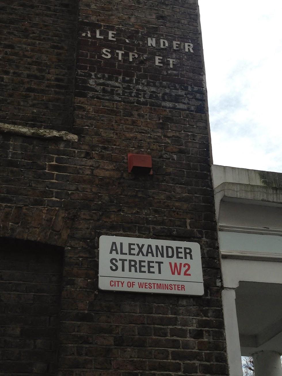 Ghost signs, Alexander Street, London W2