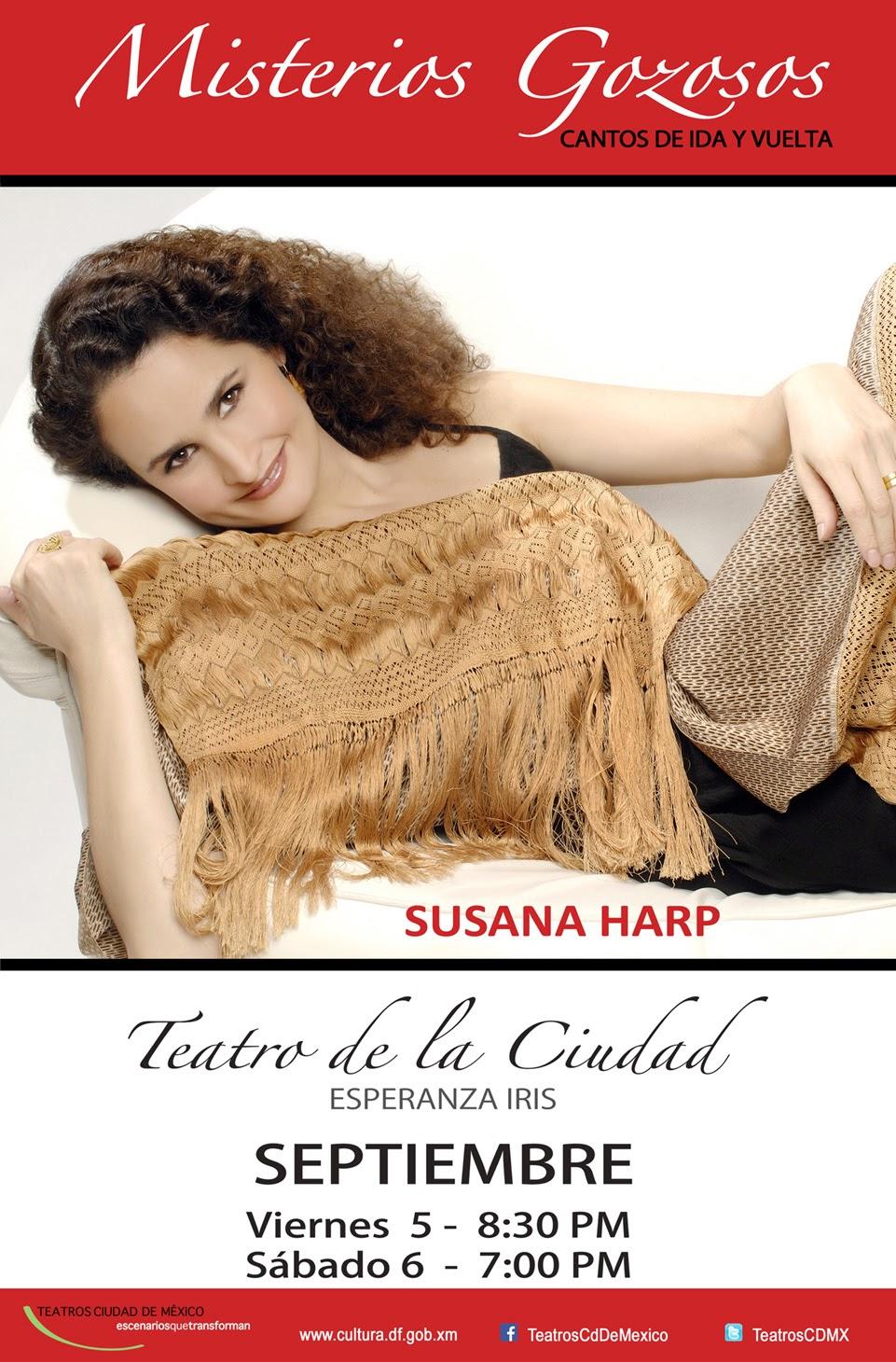 Susana Harp presentará nuevo disco en el Teatro de la Ciudad con dos presentaciones