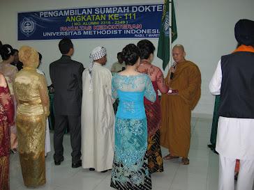 Pengambilan Sumpah Dokter Umum di Universitas Methodist Indonesia