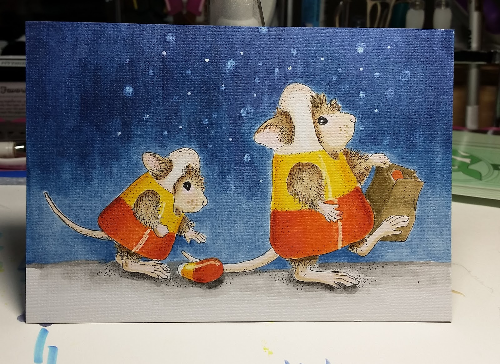 online card classes, stampendous, house mouse, halloween