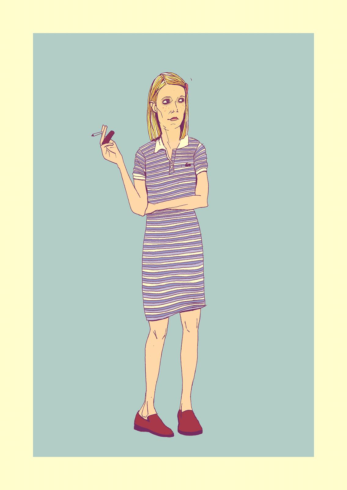 Gwyneth Paltrow Margot Tenenbaum Illustration