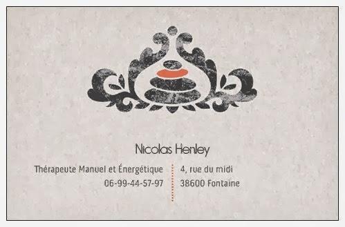Nicolas Henley Therapeute Carte De Visite