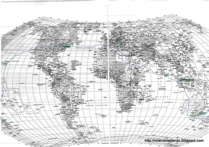 Vivendo salendo mappa del giro del mondo in 16 giorni - Mappa del mondo contorno ks2 ...