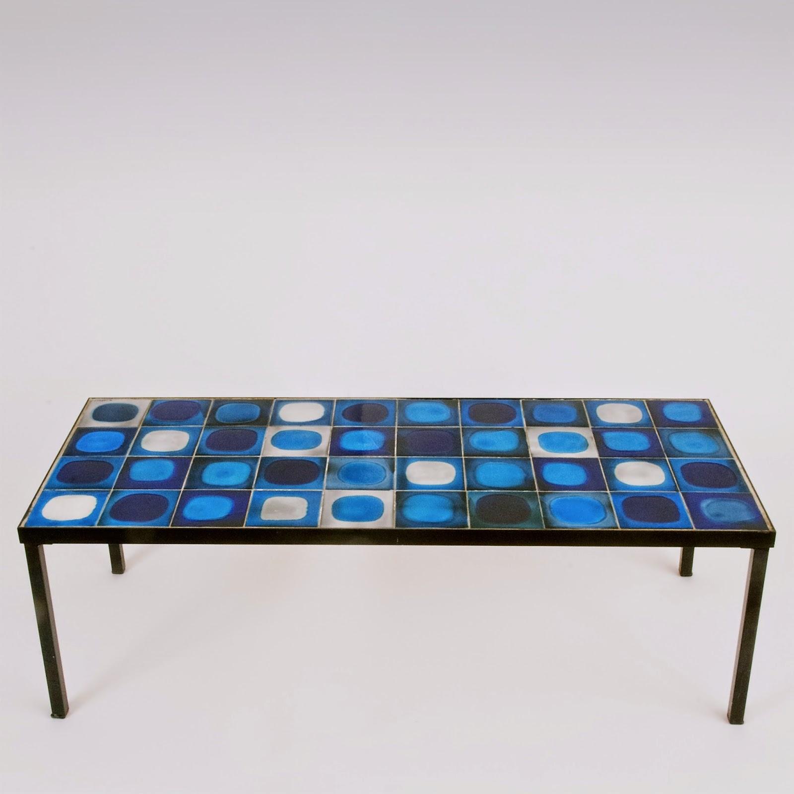galerie riviera roger capron table basse plan tes bleue. Black Bedroom Furniture Sets. Home Design Ideas