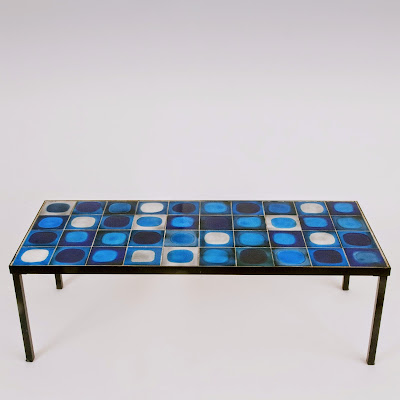 Roger Capron blue coffee table