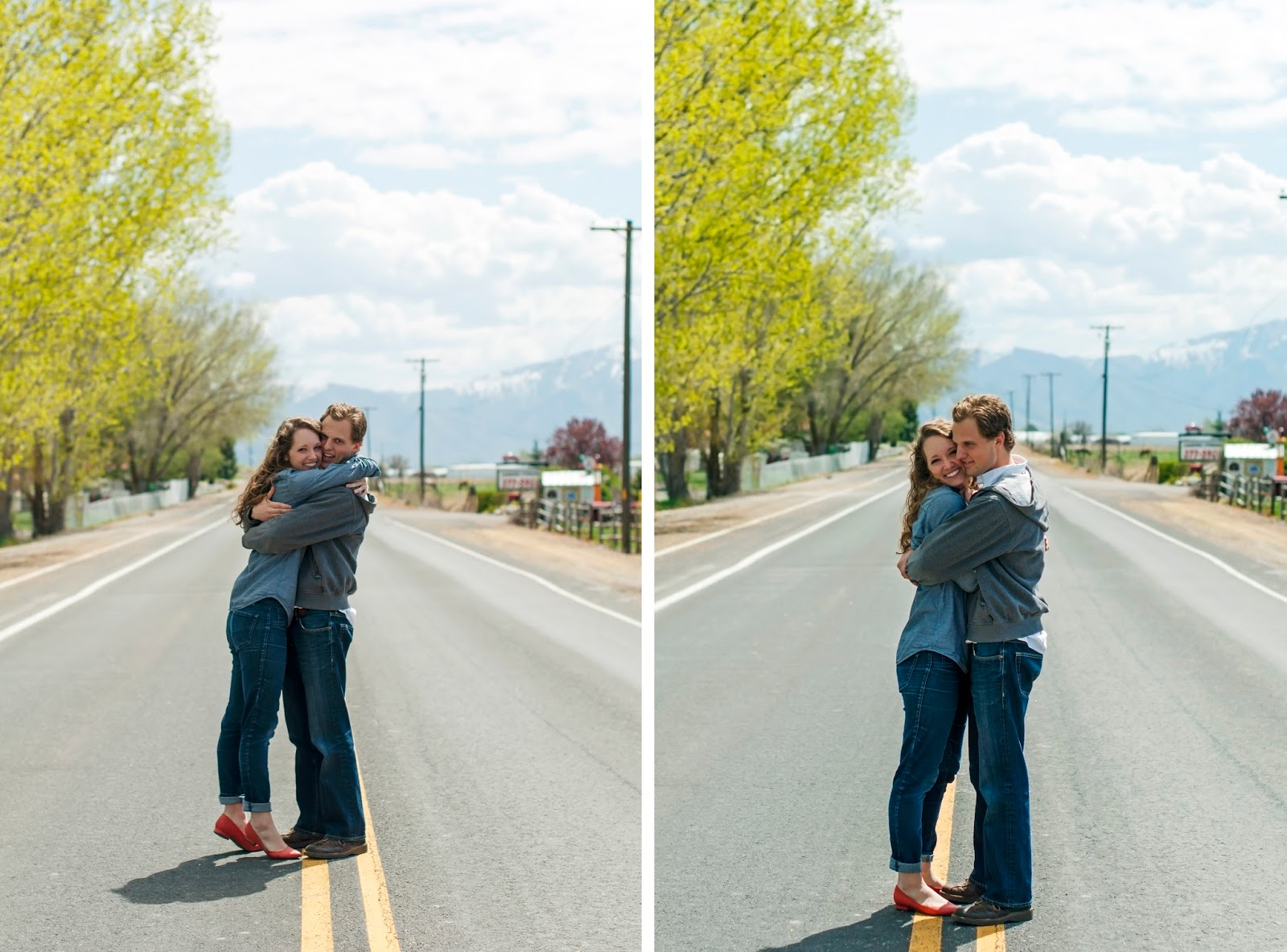 Downtown Engagement Sessions with utah photographer J&H Photography