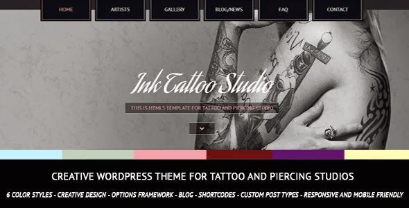Creative WordPress Theme Tattoo