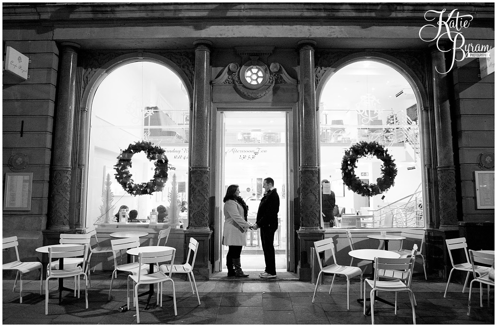 newcastle quayside engagement, newcastle pre-wedding shoot, newcastle quayside portraits, tyne bride engagement, christmas in newcastle, fenwicks window, millenium bridge engagement, pitcher and piano newcastle, olive and bean cafe, the baltic wedding, newcastle wedding photographer, katie byram photography