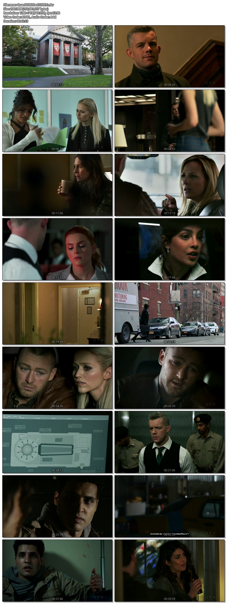 Screenshots Of English Show Quantico Season 03 Episode 05 2018 WEB-DL 720P 300MB