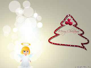 Free Download Merry Christmas Angel Wallpaper