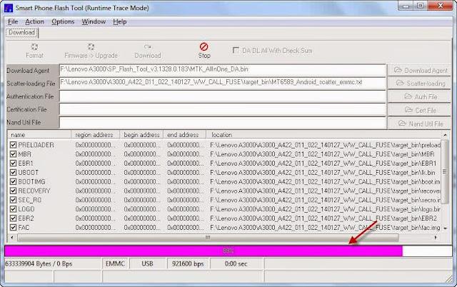 Tablet MATOT: Cara Flash IdeaPad Lenovo A3000 progres download
