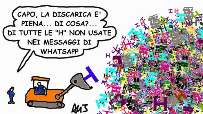 spazzatura, rifiuti, chat, whatsapp, satira, umorismo