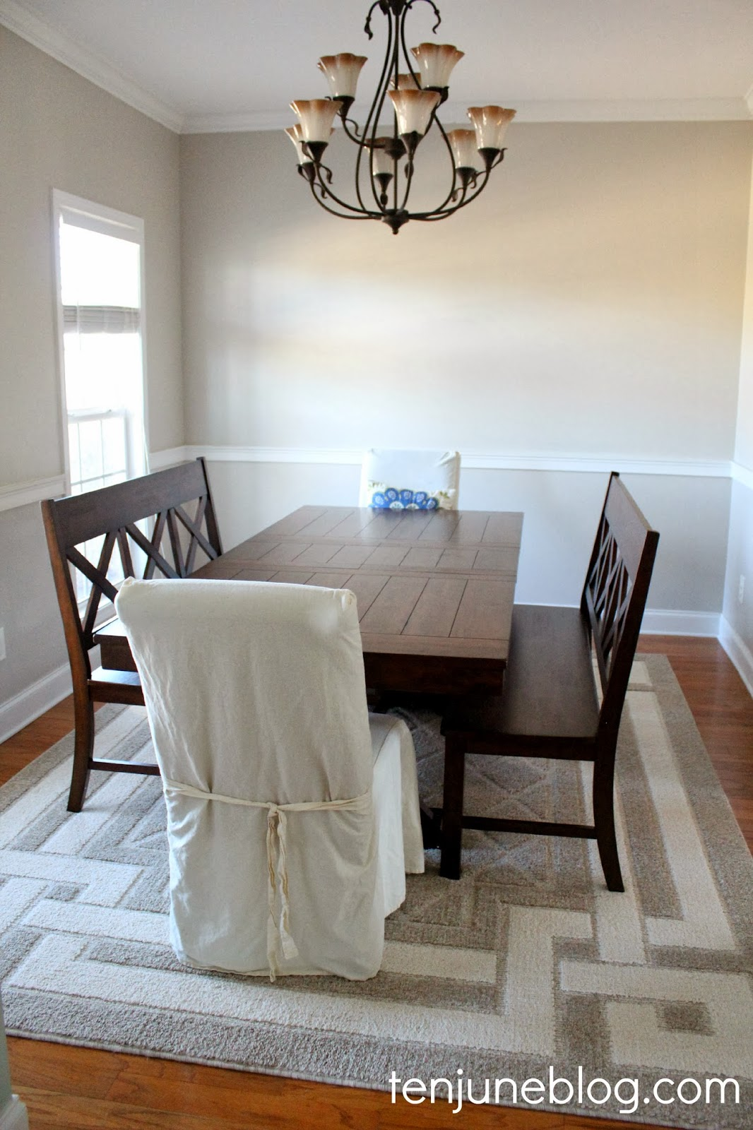 Dining Room Paint Makeover  Sherwin Williams Agreeable Gray