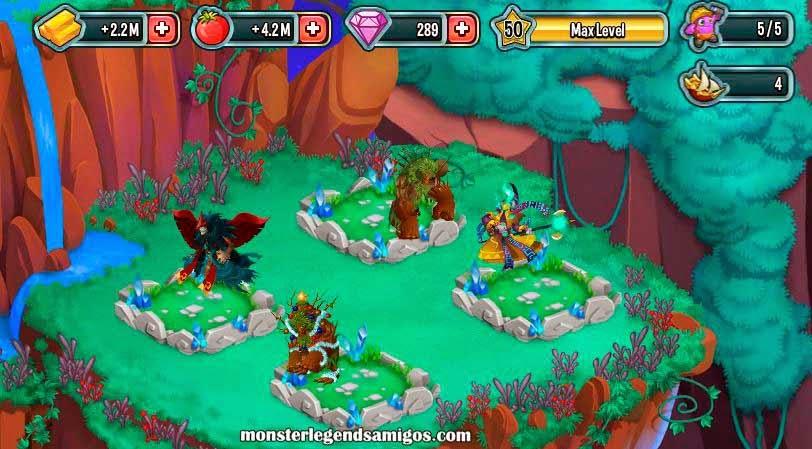 imagen de la actualizacion de los habitats de mosnter legends
