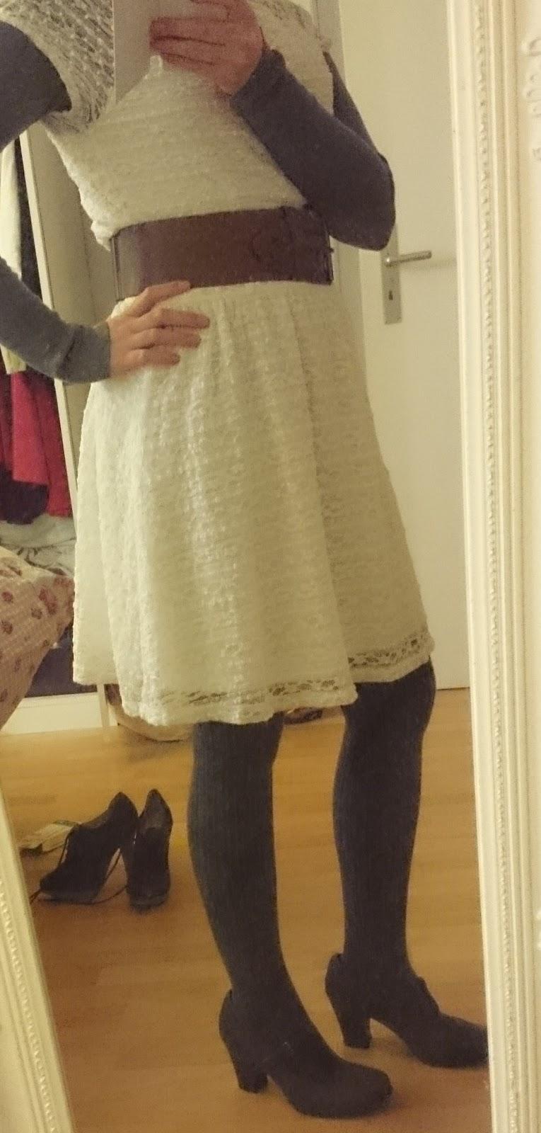 Outfit Sommerkleidchen im Winter