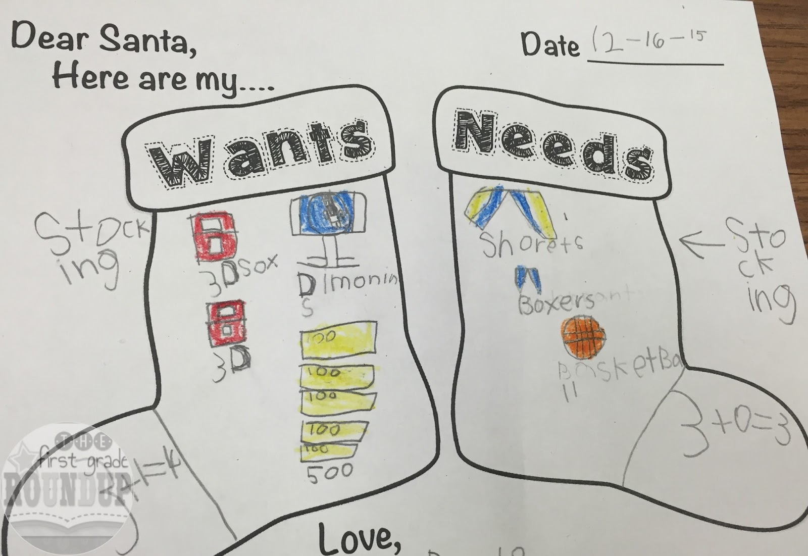 worksheet Needs And Wants Worksheets wants needs for christmas firstgraderoundup i love activities like this that are friendly and fun but still substantial in content