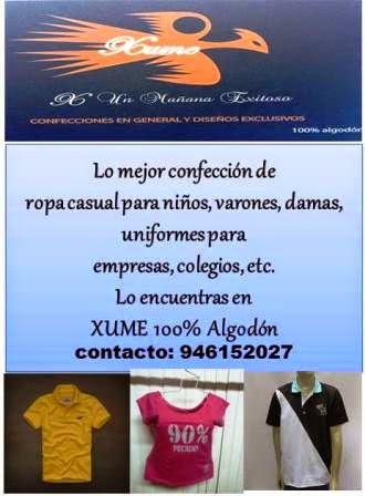 XUME 100% algodón peruano