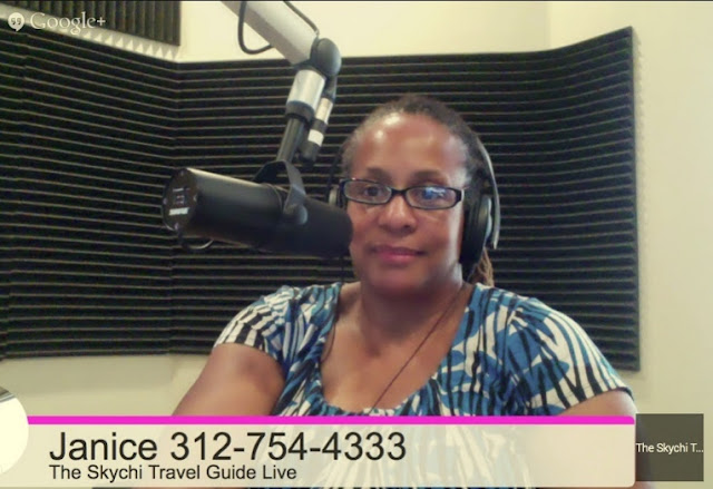 Janice Temple Radio Talk Show Host of The Skychi Travel Guide Live